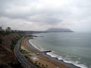 Lima - Views of the Pacific Ocean.