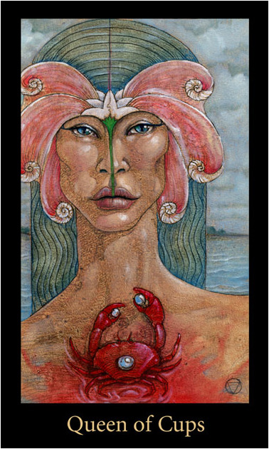 Queen of Cups tarot card Mary-el Tarot