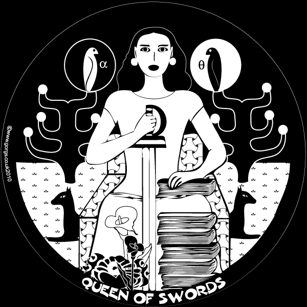 The Queen of Swords, by Dolores Fitchie, from Gorgs Graphic Souk