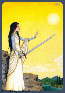 Ace of swords tarot card anna K