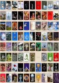 The standard 78 tarot cards