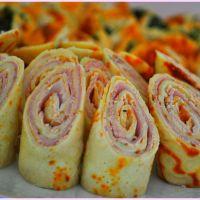 Sommerlich-herzhaft: Crêpes gefüllt mit Schinken und Frischkäse