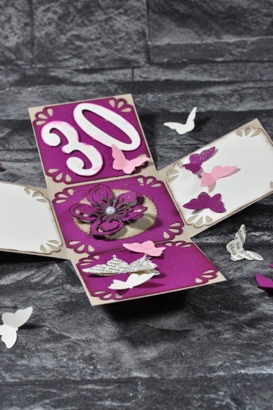 Explosionsbox mit Schmetterlingen von Stampin Up