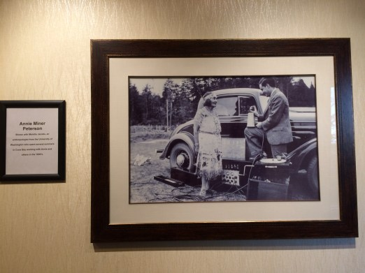 Inside was a display of historical photos and modern material culture from the tribes