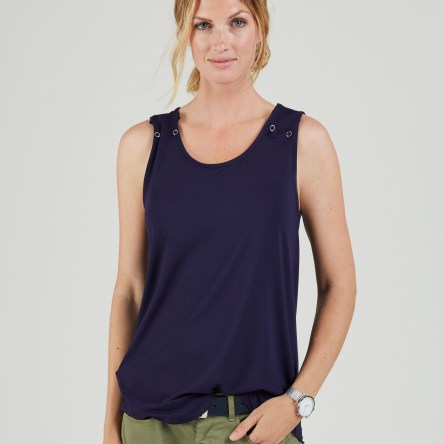 Isabella Oliver – Signature Nursing Popper Tank (Darkest Navy)