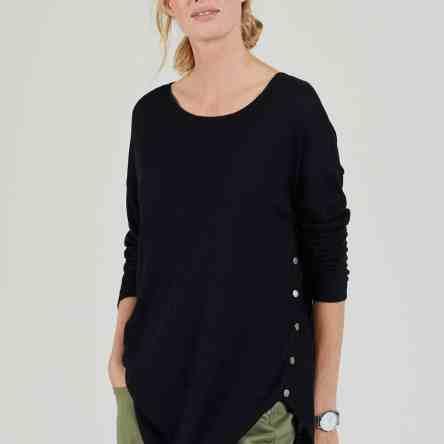 Isabella Oliver – Signature Nursing Jumper (Caviar Black)