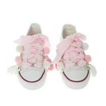 Tenisi alb/roz fetite Quickas