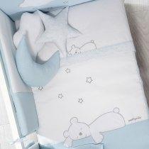 Cuvertură + Protector Dream Crib Blue