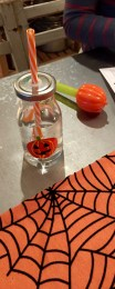 Cute pumpkin bottles and decorations