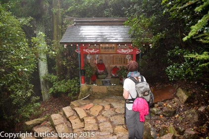 Little shrines encountered on the way down.