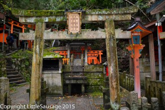 Here there are many smaller shrines part way up the hill.