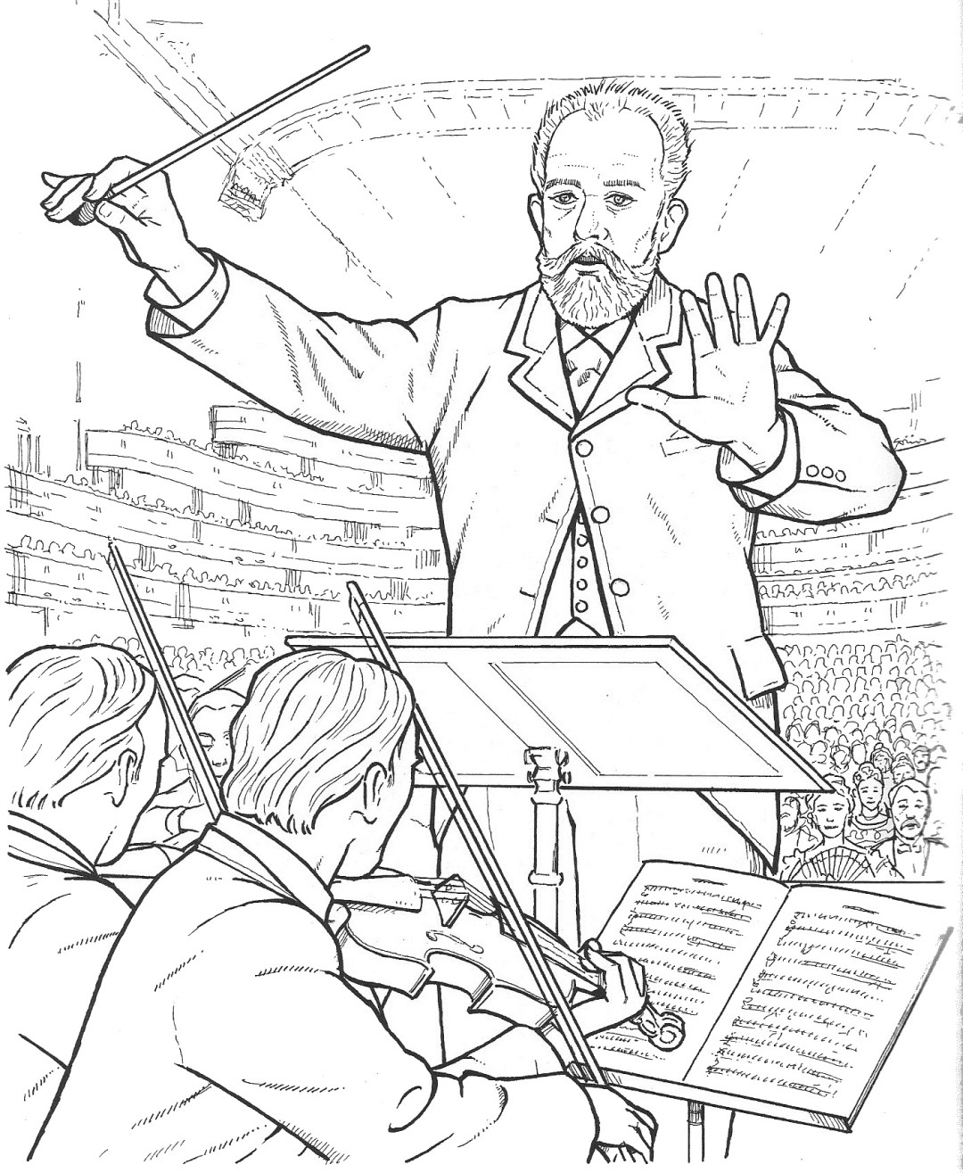 tchaikovsky - Composer Coloring