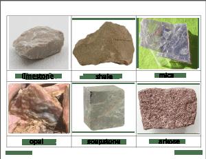 rocks 7 300x231 - Rocks and Minerals Classified Cards
