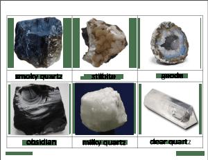rocks deann5 300x231 - Rocks and Minerals Classified Cards
