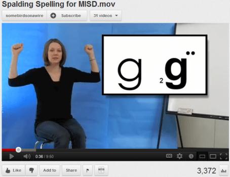 youtube - Spalding Phonogram Hand Signals