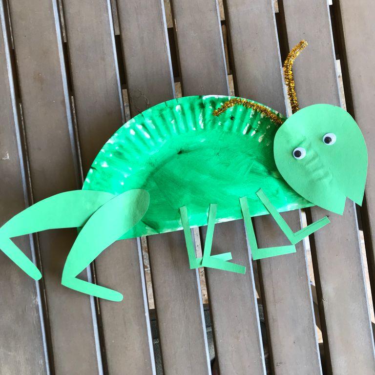 Little School of Smith's- paper plate bugs-grasshopper