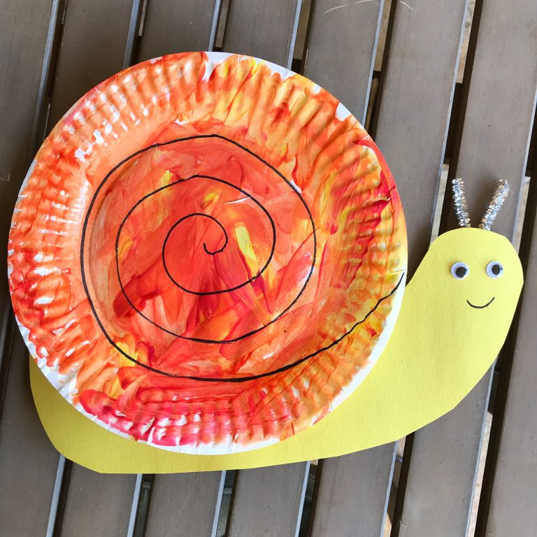 Little School of Smith's- paper plate bugs- snail