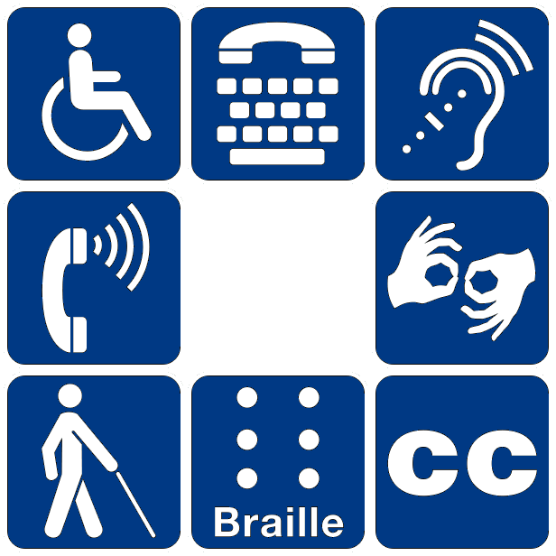 Different symbols for disability. Feature image on Site Update for Little Sea Bear.