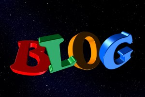 Text reads Blog