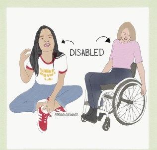 invisible disability next to obvious disability