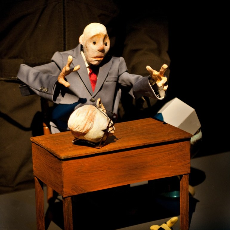 LUNATIC CUNNING is a one man puppet play that humorously investigates the occult roots of puppetry and performance art.