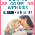 Share the gospel in 5 minutes using only these 3 verses. Use these 3 verses to share the gospel with a stranger, a friend, or a child. | How to teach the gospel to a child. #Bible #Christianmom #Jesus