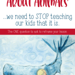 Bible stories for kids often center around the animals - Noah's Ark, Jonah's whale, the prodigal son's pigs - but they're not the main characters. Use this one question to teach the Bible to kids in a way that's transformative.   Children's Ministry should be a place where God's love is taught, not just a place of fun. #kidmin #childrensministry #Christianparenting
