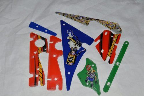 Addams Family 8 Piece NOS Plastic set