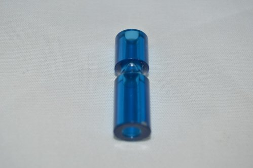 "Blue Transparent 1 1/4"" Narrow Post 03-8365-10"