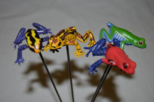 Scared Stiff frog on a stick in assorted colors 04-10510