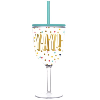 yay wine cup - slant collections - little shop of wow