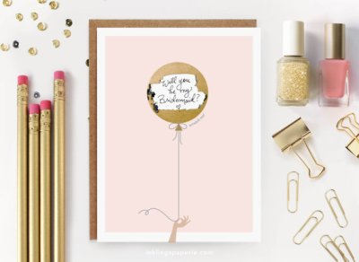 Scratch-Off Card - Bridal - Little Shop of Wow - Inklings - Pink and Gold Card