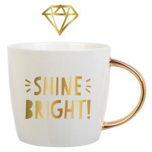 Shine Bright Mug Gold Foil - Slant Collections - Little Shop of WOW