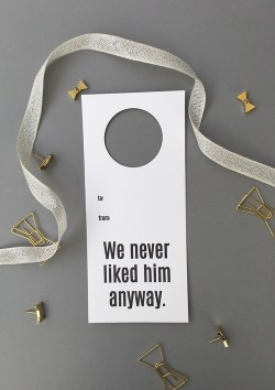 We Never Liked Him Anyway Wine Tag - Chez Gagne - Little Shop of WOW