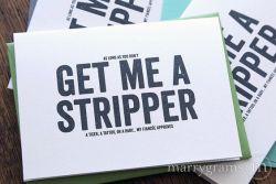 Get Me a stripper groomsman - best man - Marrygrams - Little Shop of WOW