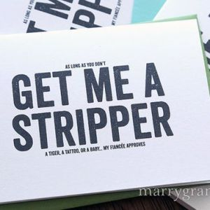 Get Me a stripper groomsman - best man - Marrygrams - Little Shop of WOW