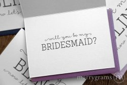 I got my bling now let's do this card bridesmaid - marrygrams - little shop of wow