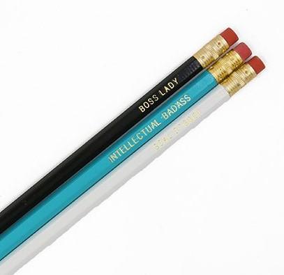 Girl Boss Pencil Set - #Girlboss WOW Box - Little Shop of WOW - Gift Box - Like a boss - Intellectual badass - Goal digger CLOSE UP