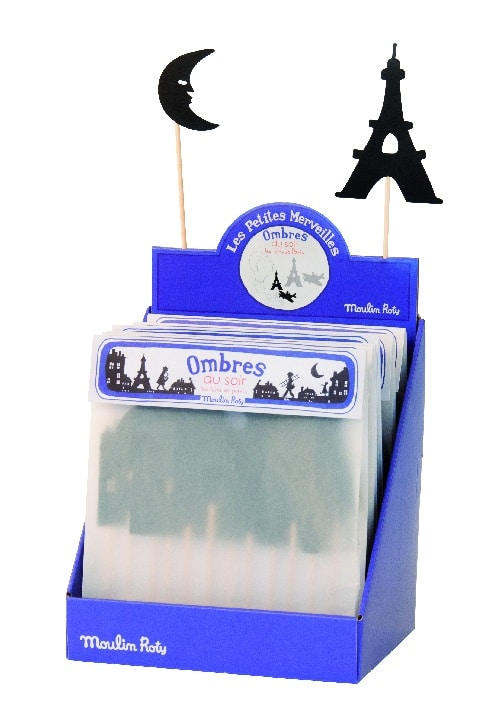 Moulin Roty, night-time shadows shadow puppets, imaginative play