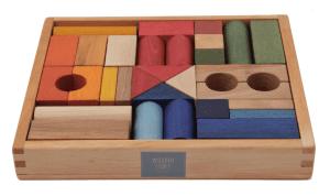 Wooden Story - rainbow blocks 30 pieces