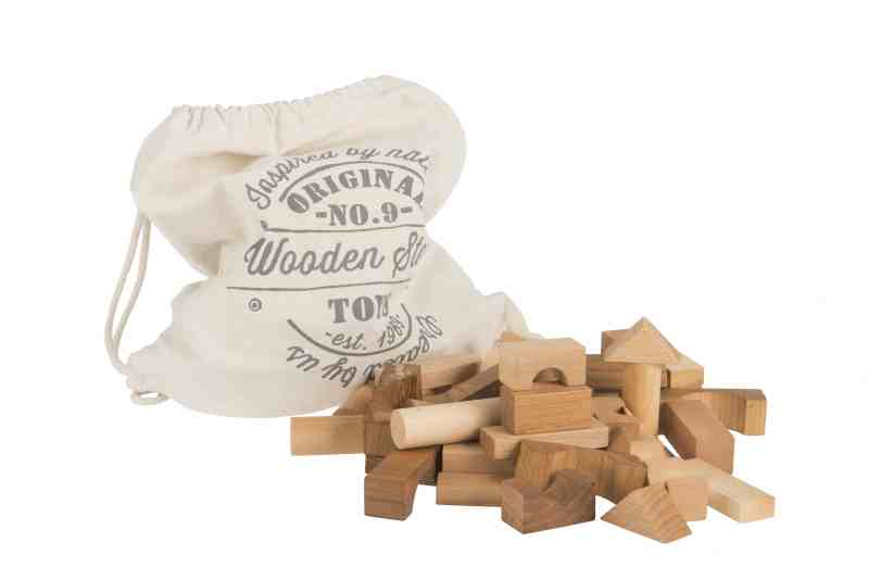 Wooden Story - XL natural wooden blocks 50 pieces