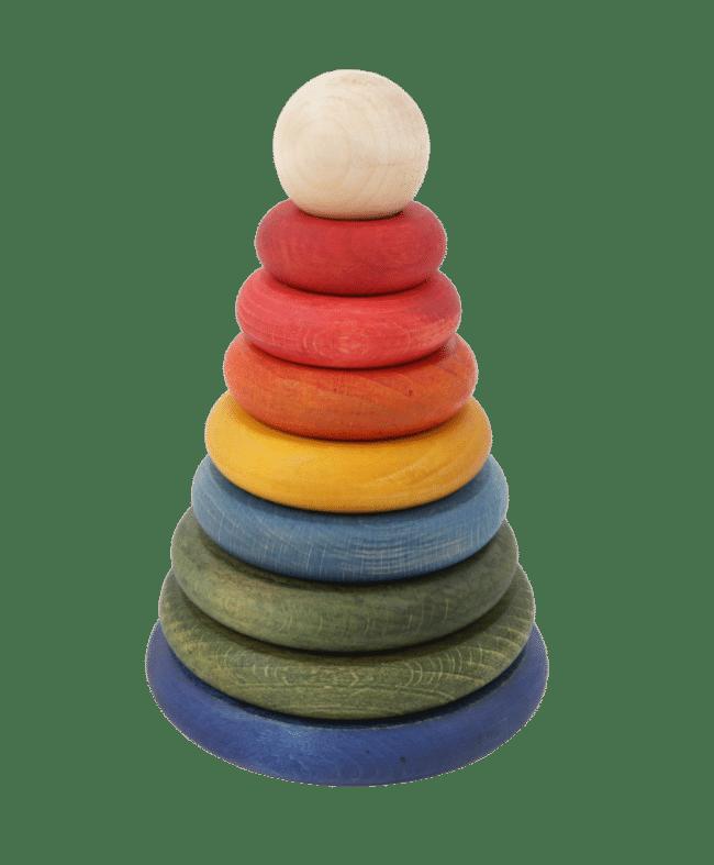 wooden story - rainbow round stacker