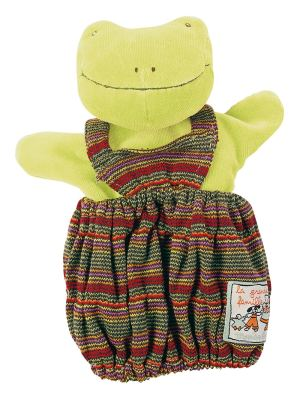 Hand puppets, Moulin Roty, pretend play, perlette the frog, hand puppet perlette