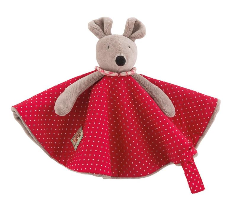 Nini the mouse comforter, Moulin Roty, baby toys, comforters, Nini the mouse