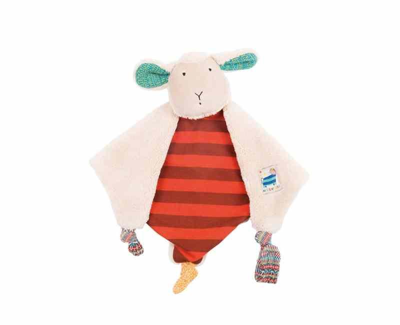 Zig et Zag sheep comforter - baby toys, soft toys, plush toys, baby toy comforter, Moulin Roty toys Australia