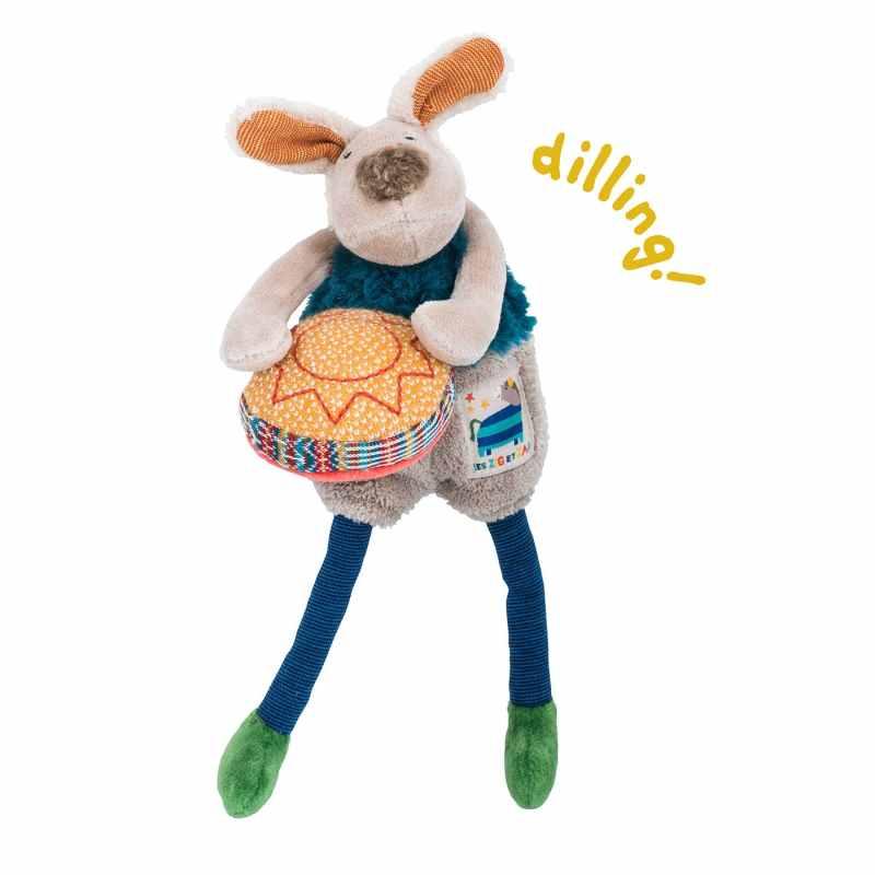 dog rattle, baby toys, soft toys, rattles, babies toys, les zig et zag, Moulin Roty toys Australia