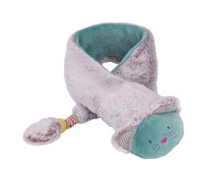 winter scarf with plush fur and cat character - moulin roty 660 121