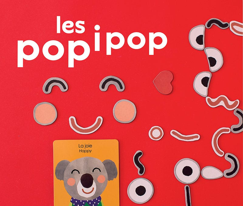 emotions and expressions magnets - 'les popipop'