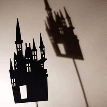 moulin roty shadow puppets castle - puppet play