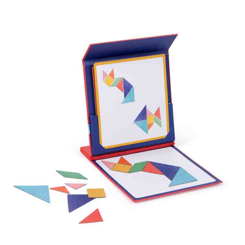 magnetic tangram in travel case for kids games